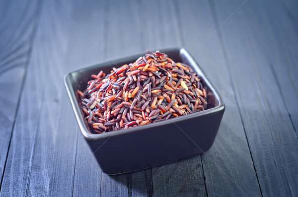 Nyers rizs asztal kínai indiai ebéd Stock fotó © tycoon