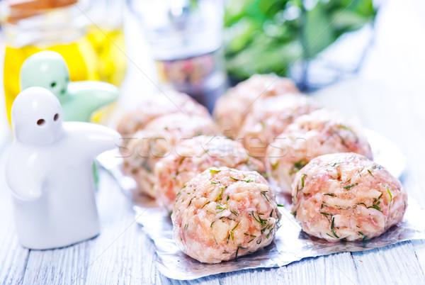 raw meat balls Stock photo © tycoon