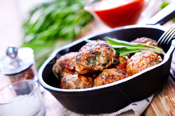 meatballs Stock photo © tycoon
