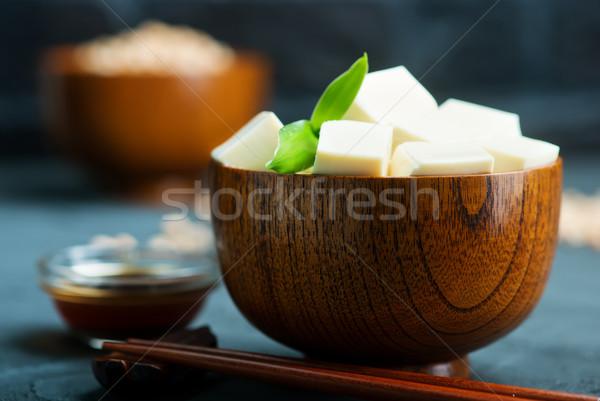 豆腐 チーズ ボウル 表 健康 アジア ストックフォト © tycoon