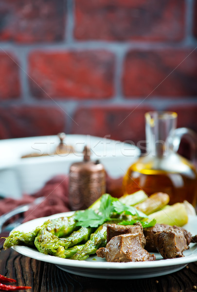 fried liver Stock photo © tycoon