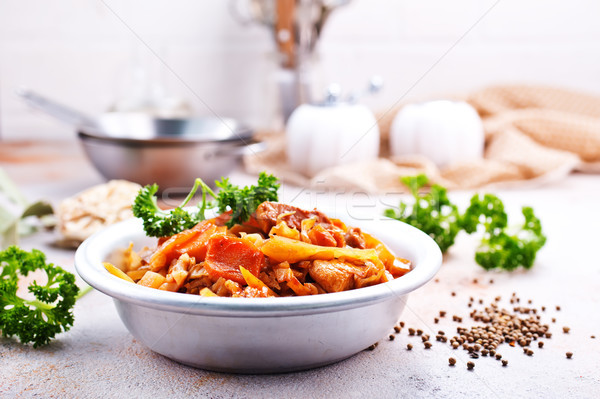 Kool stoven ander groenten vlees achtergrond Stockfoto © tycoon