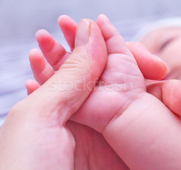 Bebek el mutlu çocuk vücut ayaklar Stok fotoğraf © tycoon