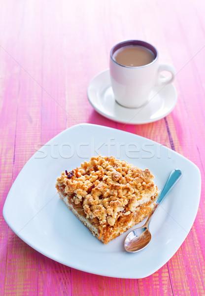 Almás pite fa piros reggeli desszert friss Stock fotó © tycoon
