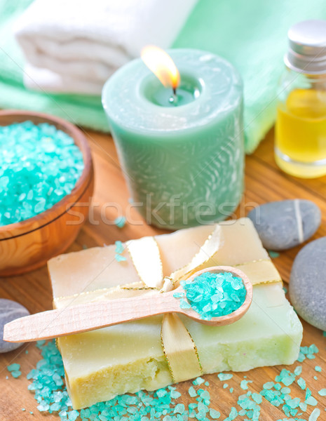 sea salt and soap Stock photo © tycoon