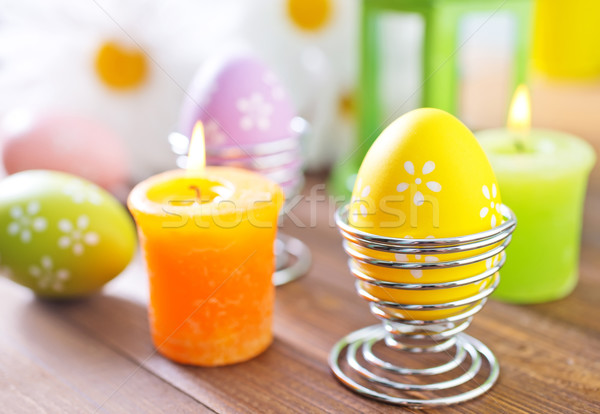 Пасху пасхальных яиц весны трава краской яйцо Сток-фото © tycoon