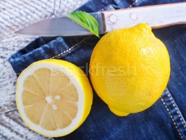 fresh lemons Stock photo © tycoon