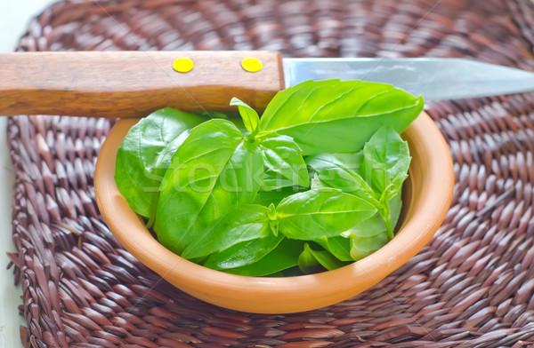 Taze fesleğen gıda yaprak bahçe sağlık Stok fotoğraf © tycoon