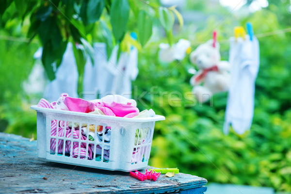 Baby vestiti giardino famiglia bambino shopping Foto d'archivio © tycoon