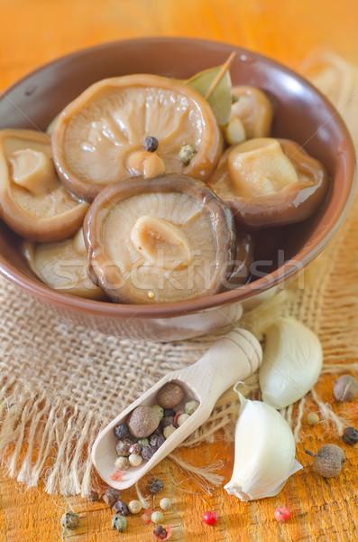 ストックフォト: キノコ · 食品 · 自然 · 背景 · 色 · 食べる