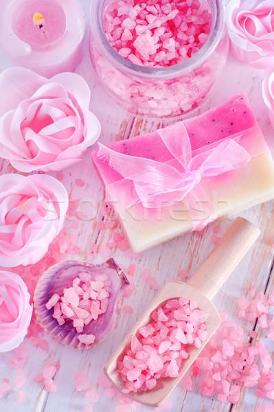 Zeezout zeep natuur home gezondheid schoonheid Stockfoto © tycoon