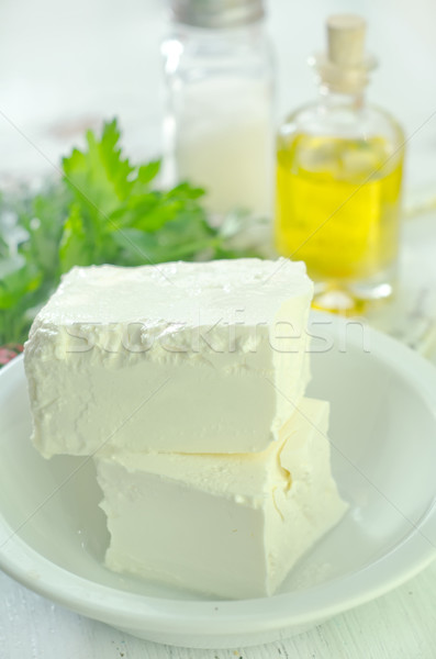 Voedsel restaurant kaas melk ontbijt Stockfoto © tycoon