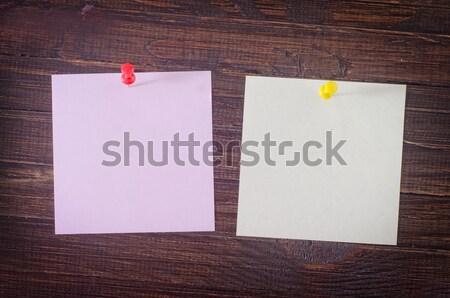 Kleur papier houten hout achtergrond Blauw Stockfoto © tycoon