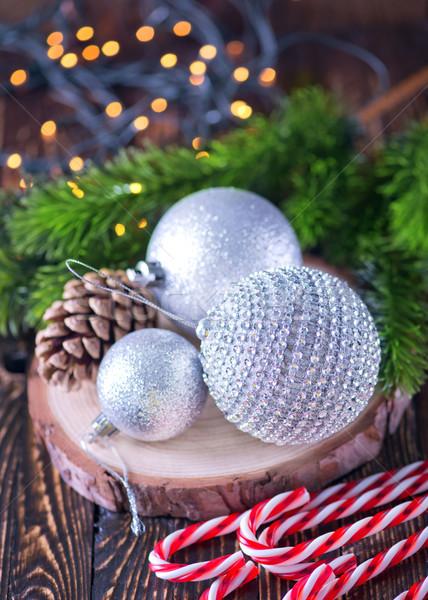 Natal decoração tabela neve estrela veado Foto stock © tycoon