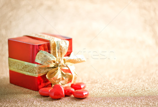 presents and hearts Stock photo © tycoon