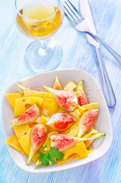 cheese with figs Stock photo © tycoon