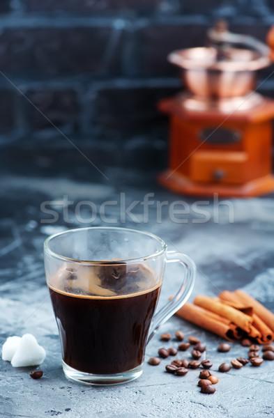 Café taza de café mesa puesta de sol color drogas Foto stock © tycoon