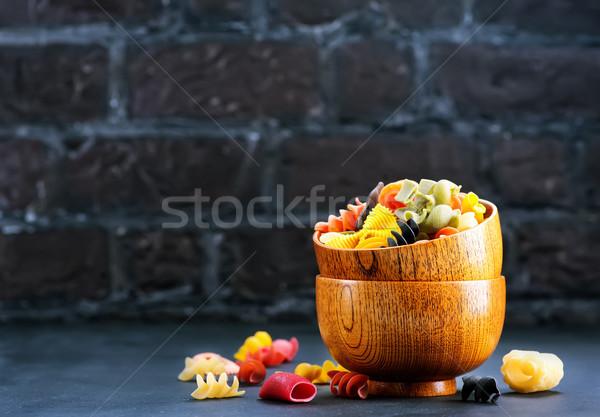 Pasta color bambú bolos mesa fondo Foto stock © tycoon