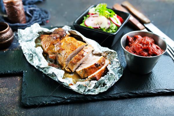 Zdjęcia stock: Mięsa · przyprawy · żywności · jedzenie · obiad