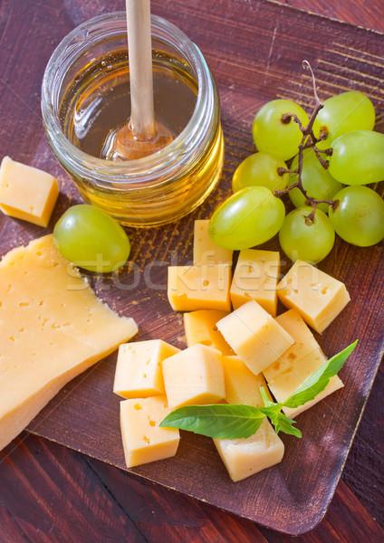 Ser żywności strony koktajl winogron biały Zdjęcia stock © tycoon