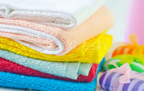 color towels Stock photo © tycoon