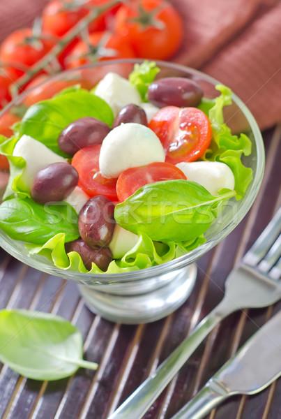 Капрезе фрукты нефть Салат томатный белый Сток-фото © tycoon