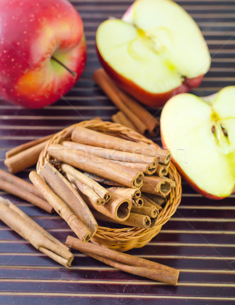 Mele cannella mela frutta salute rosso Foto d'archivio © tycoon