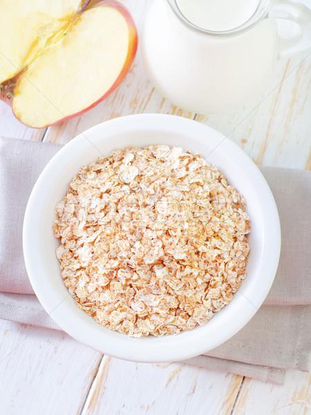 завтрак продовольствие яблоко фрукты здоровья красный Сток-фото © tycoon