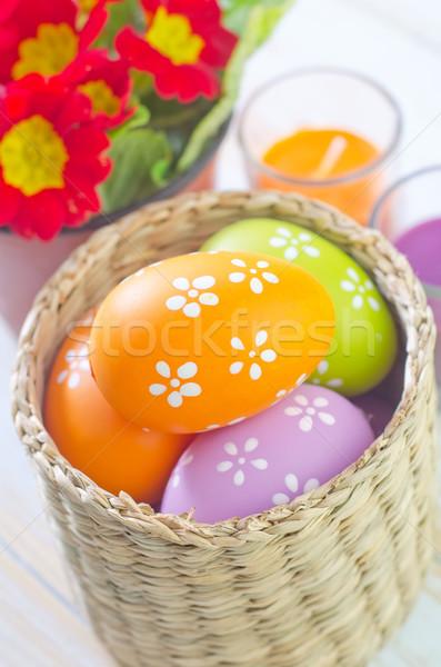 Húsvéti tojások húsvét virág tavasz terv tojás Stock fotó © tycoon