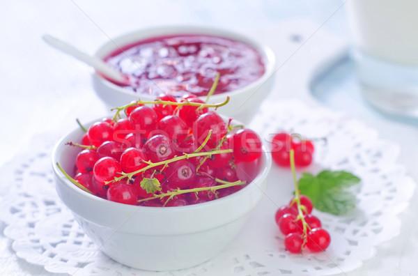 Stok fotoğraf: Salata · kırmızı · frenk · üzümü · gıda · çim · sağlık