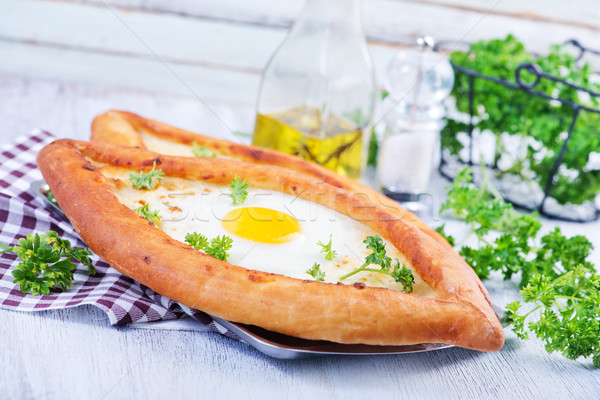bread with egg Stock photo © tycoon
