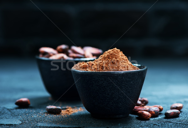 beans with powder Stock photo © tycoon