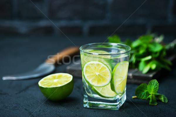 Detoxikáló ital citrom citrus gyümölcs üveg Stock fotó © tycoon