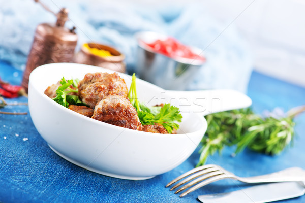 Köfte çanak tablo dizayn tavuk akşam yemeği Stok fotoğraf © tycoon