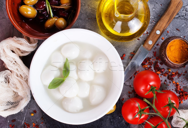 カプレーゼ 新鮮な 材料 カプレーゼサラダ 表 背景 ストックフォト © tycoon