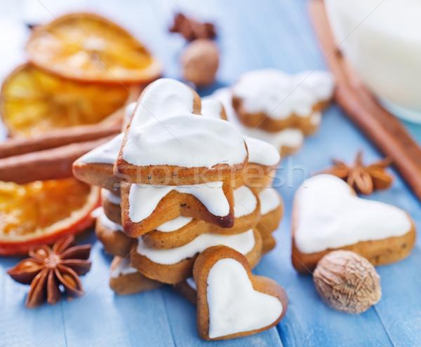 Cookie kwiat żywności miłości ciasto lata Zdjęcia stock © tycoon