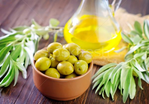 Stock photo: green olives