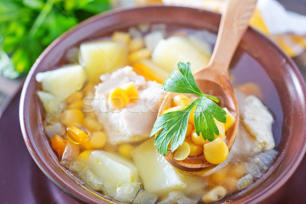 corn soup Stock photo © tycoon