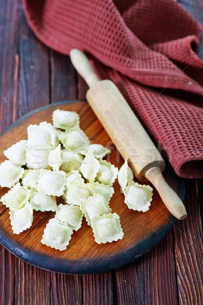 Farinha ravioli tabela comida cozinha Foto stock © tycoon
