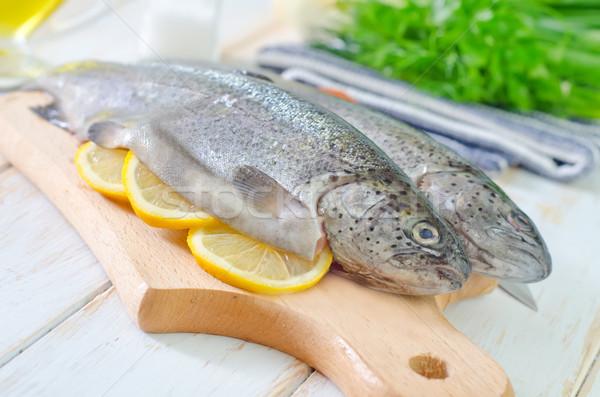 Fisch Essen Auge Fleisch jungen Stock foto © tycoon