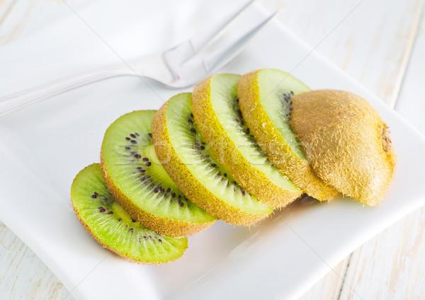 Kiwi alimentos frutas verano blanco fresco Foto stock © tycoon