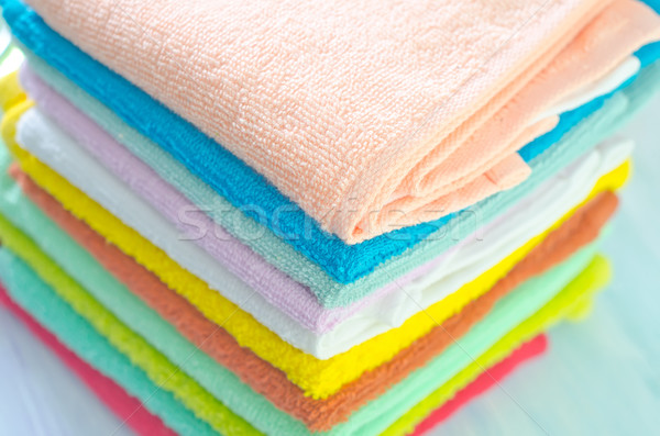 Assortment of soap and towels Stock photo © tycoon