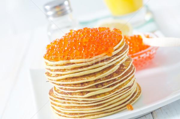 pancakes with caviar Stock photo © tycoon