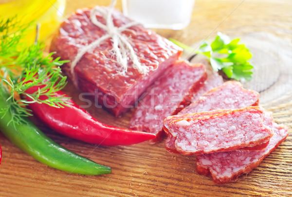 Salame prato preto tijolo garfo planta Foto stock © tycoon