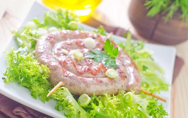 Sosis gıda turuncu restoran akşam yemeği alışveriş Stok fotoğraf © tycoon