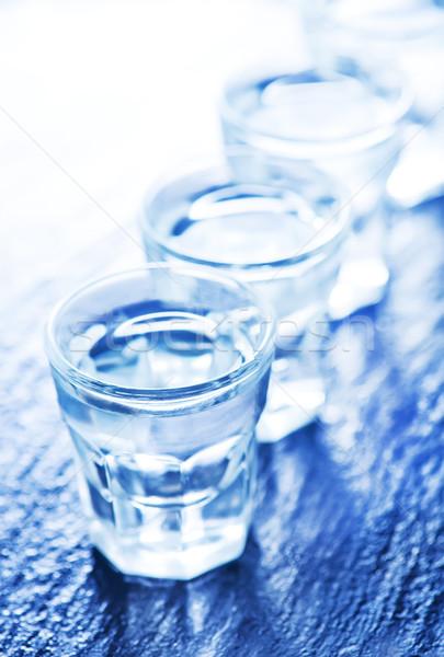 водка холодно стекла таблице воды трава Сток-фото © tycoon