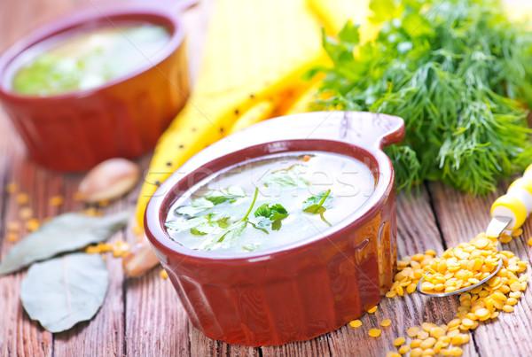 lentil soup Stock photo © tycoon