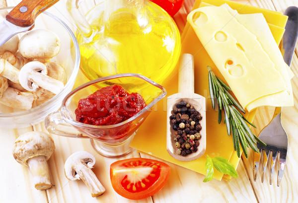 Ingredienti lasagna verde formaggio rosso pasta Foto d'archivio © tycoon
