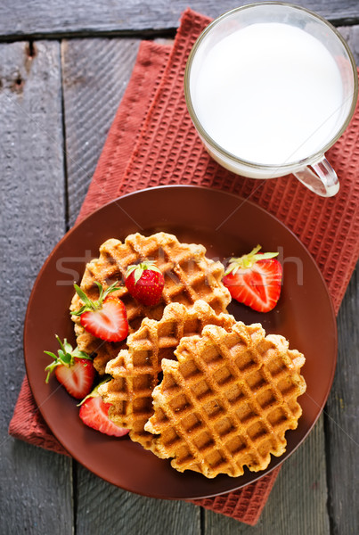 Stock photo: waffles