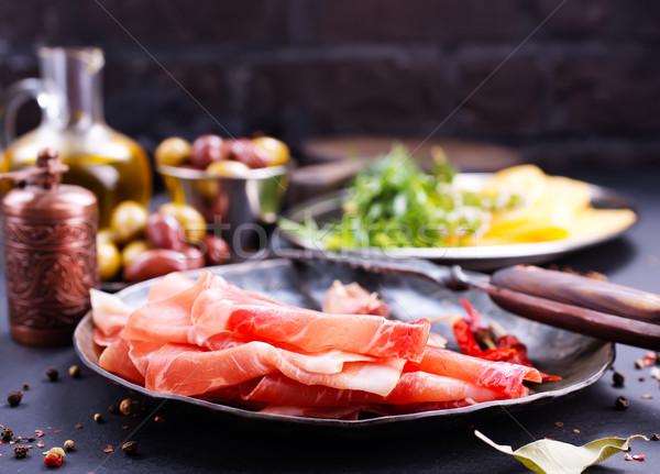 Prosciutto tempero prato estoque foto fundo Foto stock © tycoon